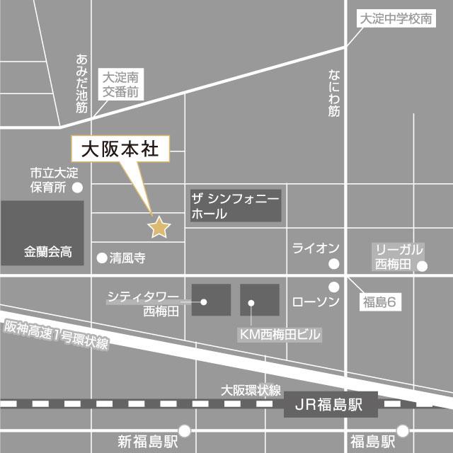 大阪本店地図
