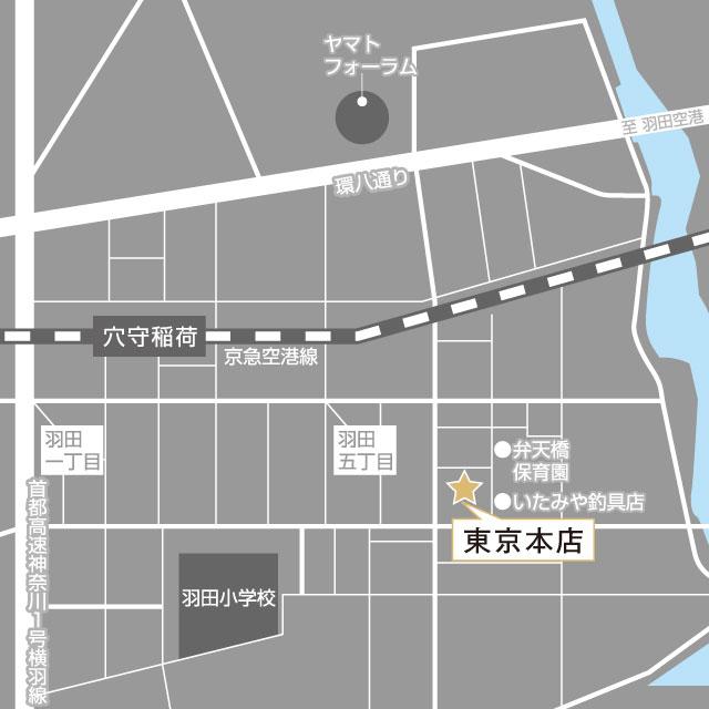 東京本店地図